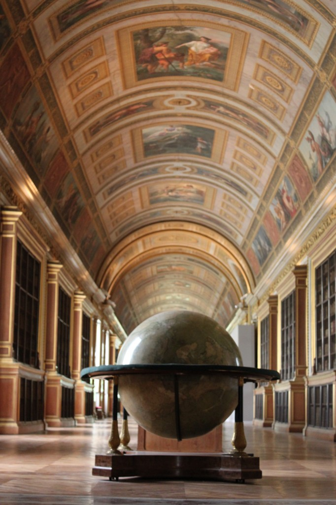 Library  and globe
