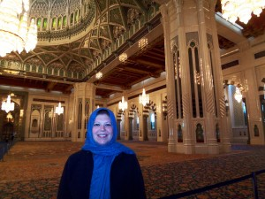 traveling woman mosque