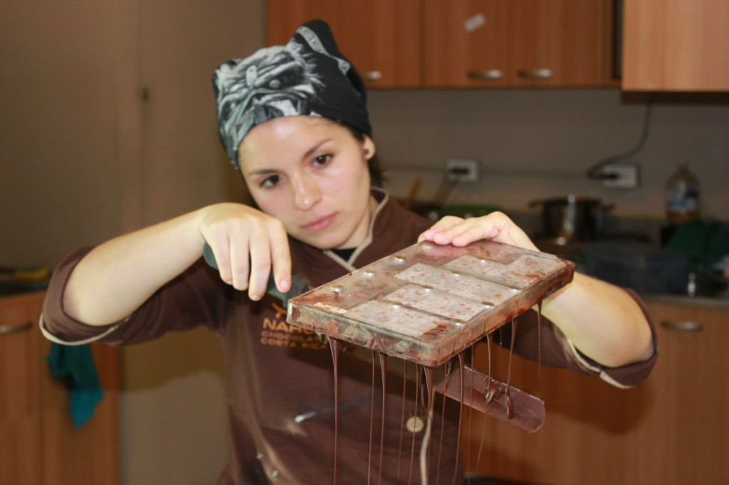 Watch chocolate truffles being made at Nahau Chocolate.